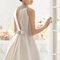 Свадебное платье с открытой спиной и бантом Rosa Clará