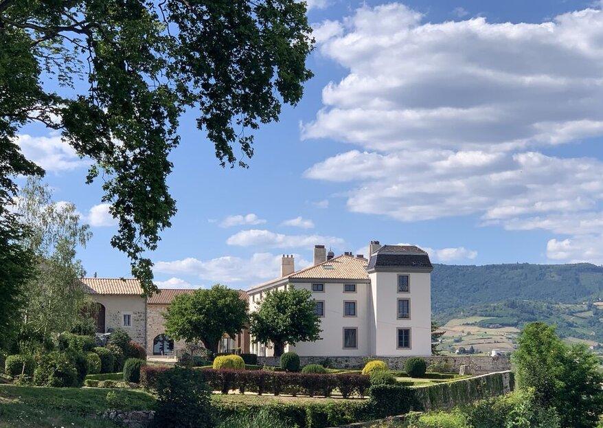 Château du Souzy : un panorama et un cadre exceptionnels où célébrer votre union !