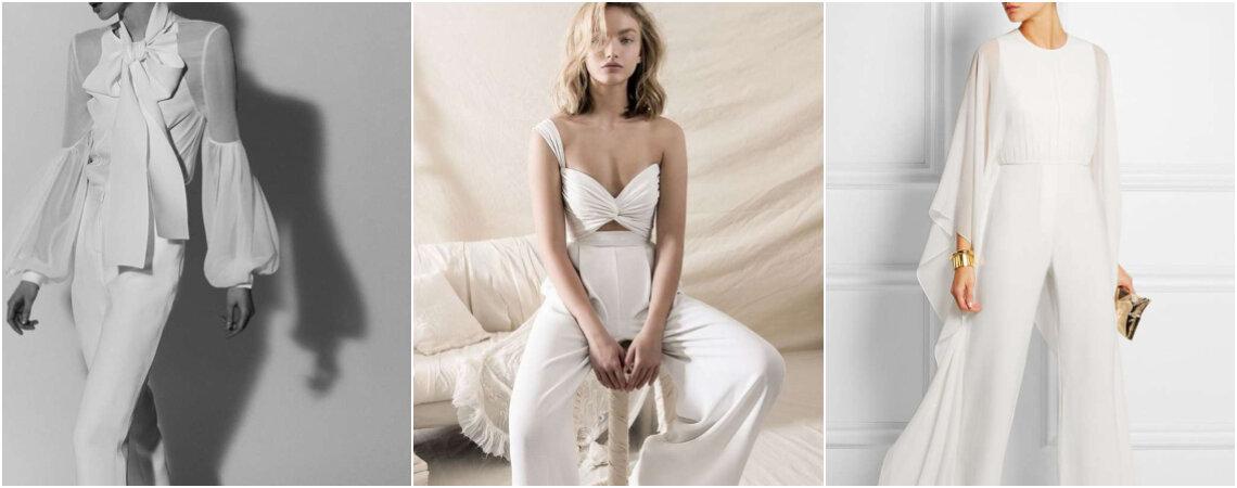 Pantalones de novia para el civil. ¡Luce femenina y original en tu matrimonio!