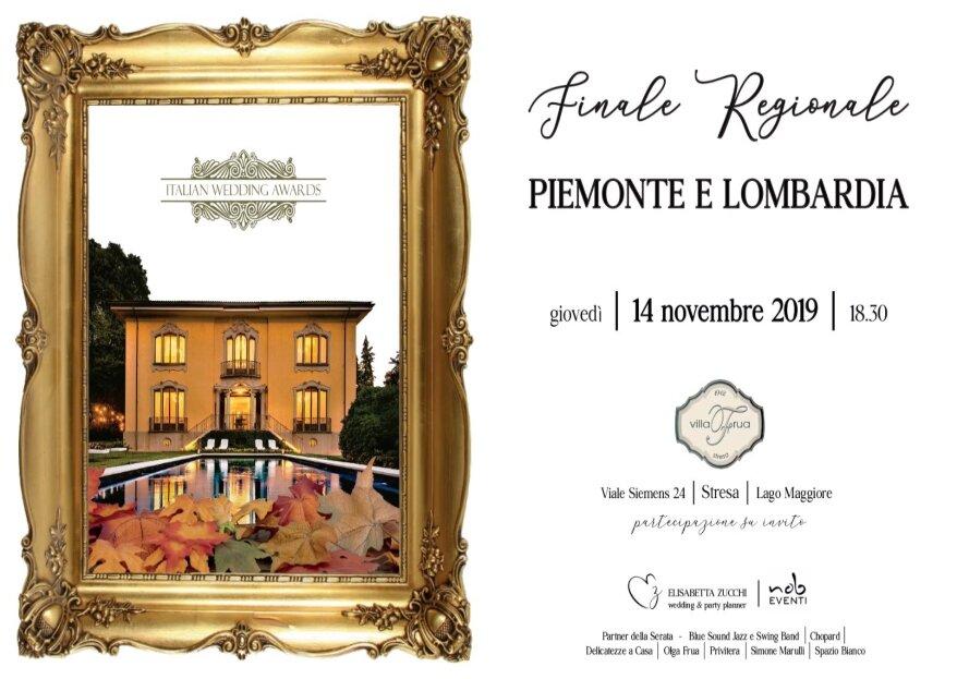 La semifinale regionale Piemonte - Lombardia del premio Italian Wedding Awards approda a Stresa: giovedì 14 novembre 2019