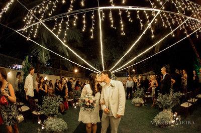 Mini wedding de Clara e Daniel: íntimo, romântico e repleto de detalhes DIY