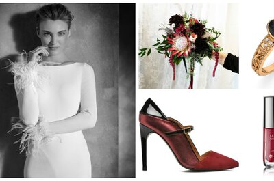 Look de la semaine : le pourpre, couleur phare de la mariée hivernale