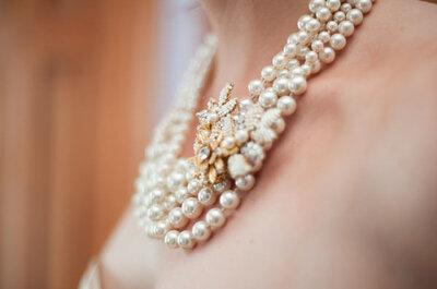 Románticas y hermosas perlas: Tips geniales para incorporarlas en tu look de novia