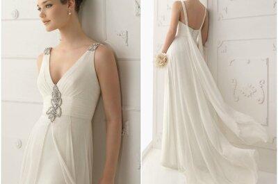 Dezent und elegant: schlichte Brautkleider aus der Kollektion 2013