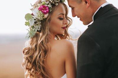 ¿El cabello suelto favorece a un look de novia? ¡Los expertos opinan!