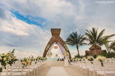 O casamento paradisíaco da cantora Thaeme com o empresário Fábio em Cancun