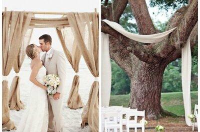 5 wyjątkowych dekoracji na ślub w plenerze