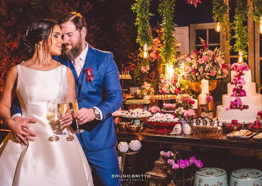 Lorena & Thiago: linda decoração assinada por Barbara Marques para um casamento inesquecível na serra fluminense