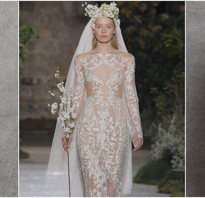 Robes De Mariée Transparentes Misez Sur Leffet Tatouage
