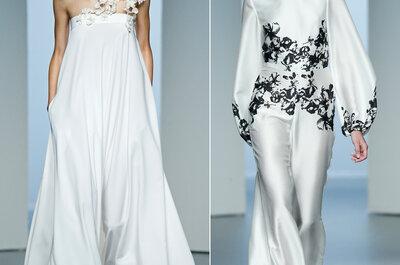 Desde Madrid, las novias lucen guapísimas con vestidos que jamás imaginaste: Conoce las tendencias must para 2015
