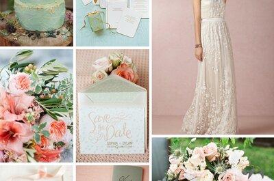 La inspiración más linda para tener una boda con detalles color rosa pastel
