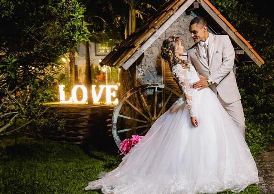 Espaço Cantagalo Festas e Eventos: casamento completo para você só se preocupar em curtir todos os momentos do dia mais feliz da sua vida