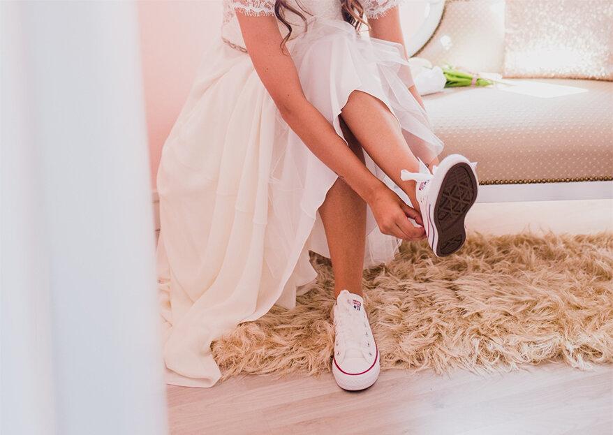 """Os mais belos ténis para a noiva: como dizer um elegante e desportivo """"SIM""""!"""