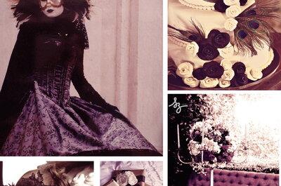 Collage de inspiración para decorar una boda dramatique