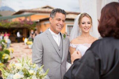 Casamento rústico em azul, amarelo e branco de Larissa e Luiz André: inspirador ao máximo!