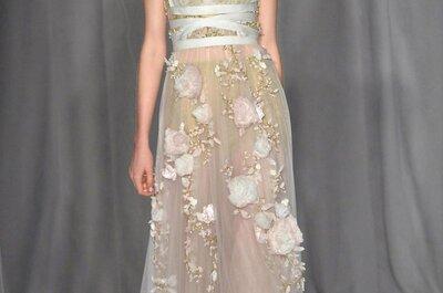 Romántico vestido de novia colección Marchesa primavera 2014