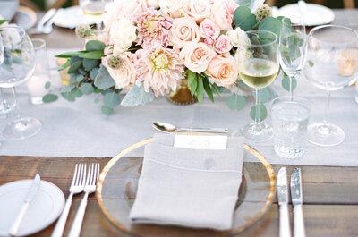 Las mejores ideas para darle a tu boda un toque rosa muy sutil