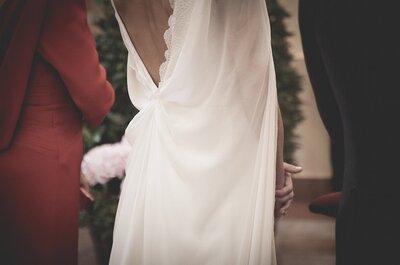 Inspiración vestidos para tu boda: novias con capa