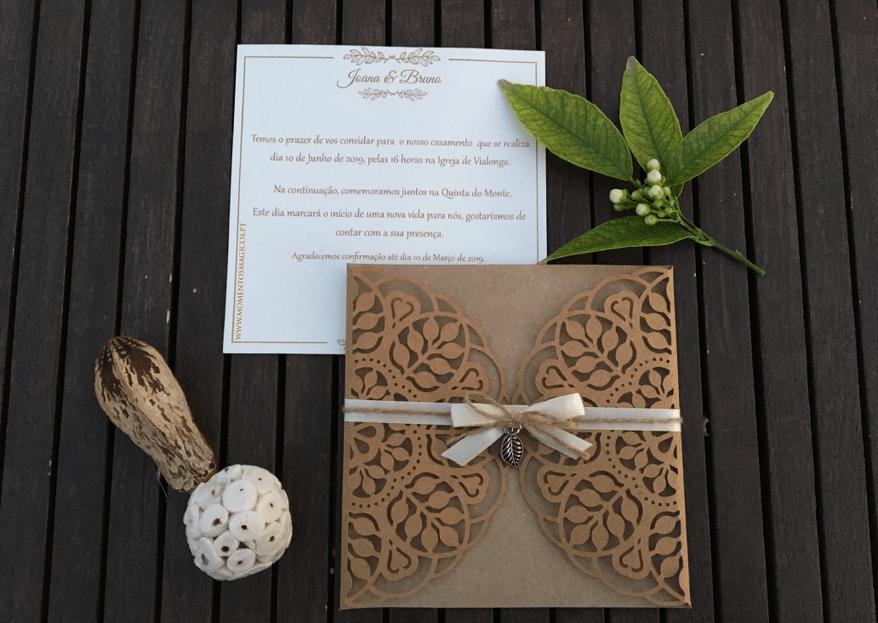 Momentos Mágicos: convites personalizados feitos com empenho e criatividade