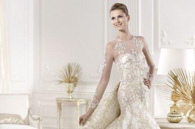 Colección Atelier Pronovias 2014: vestidos de novia ajustados