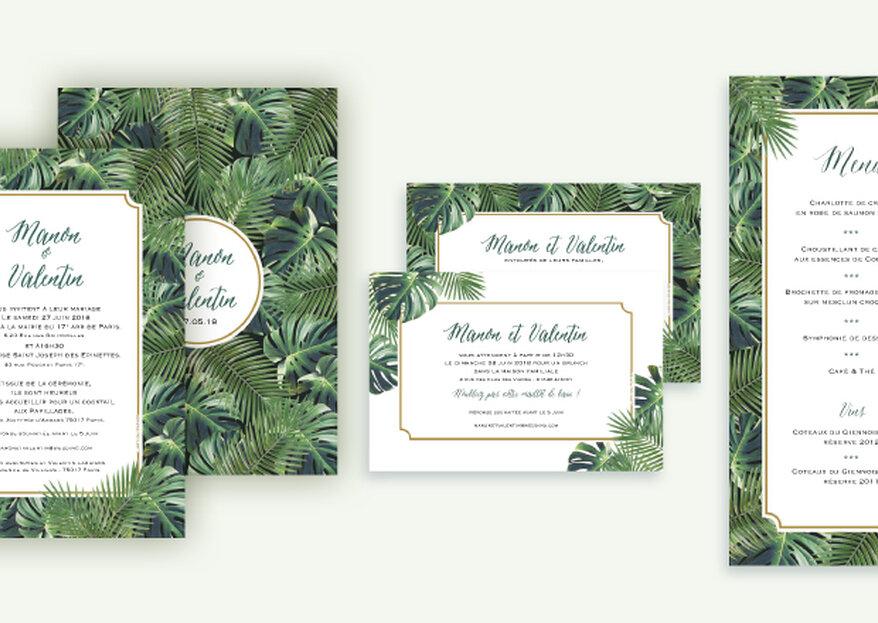 L'Art du Papier présente sa collection de faire-part pour un mariage champêtre