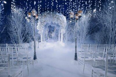3 сказочные идеи для оформления зимней свадьбы!