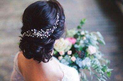 5 вариантов свадебного образа с использованием гребешка для волос