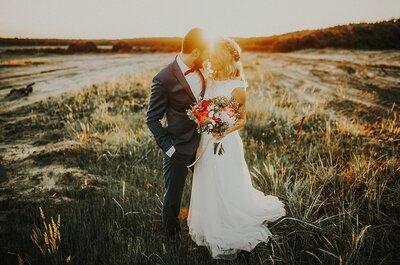 Łąka, słońce i miłość! Sesja ślubna w stylu boho.