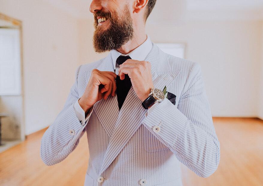 Nós de gravata para noivos e convidados