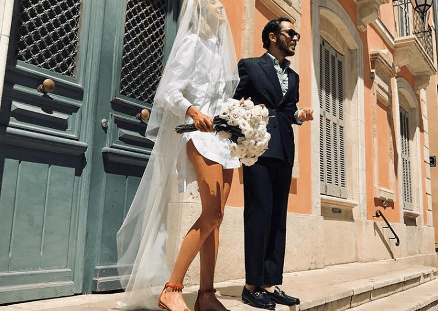 Esta fashionista se casó con una camisa blanca de hombre ¿Te atreverías?