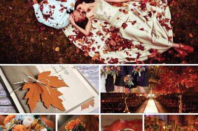 Cómo tener una boda inspirada en la belleza del otoño: Ideas ¡de ensueño!