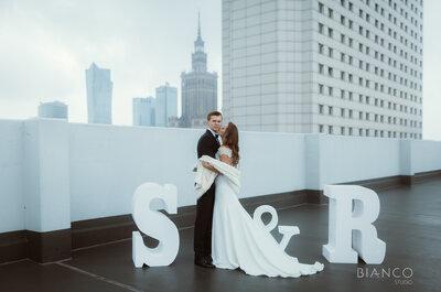 Miejska sesja ślubna w otoczeniu warszawskich wieżowców. Piękna!