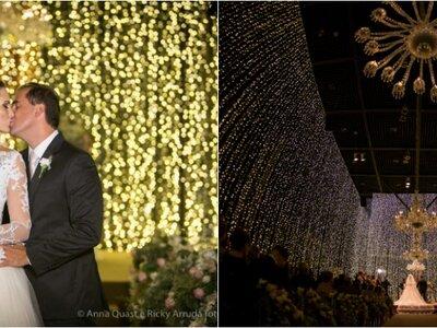 O casamento clássico maravilhoso de Ana Carolina & Rodrigo: decoração exuberante e um cenário cinematográfico!