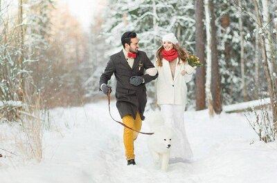Согреваемся вместе: обувь для невесты зимой!
