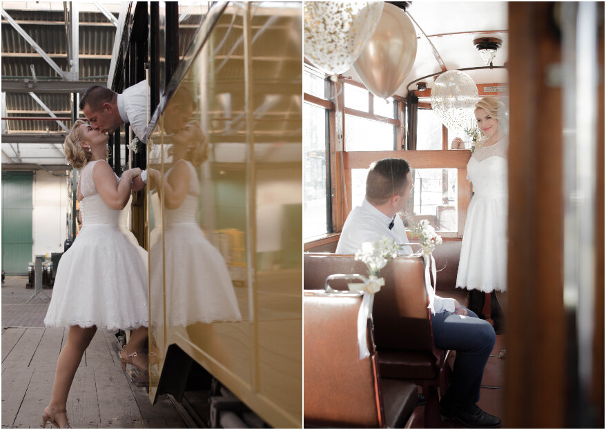 Love Tram: romantische pop-up wedding styled shoot in de tram!