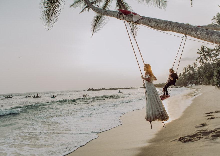 Hippie-Hochzeit auf Sri Lanka – Styled Shooting inmitten paradiesischer Strände