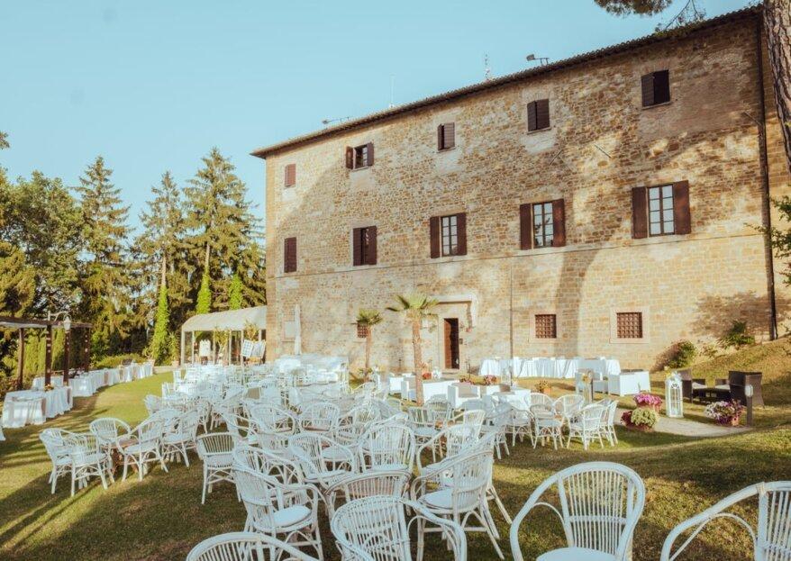 Un matrimonio in villa per coronare un amore da favola