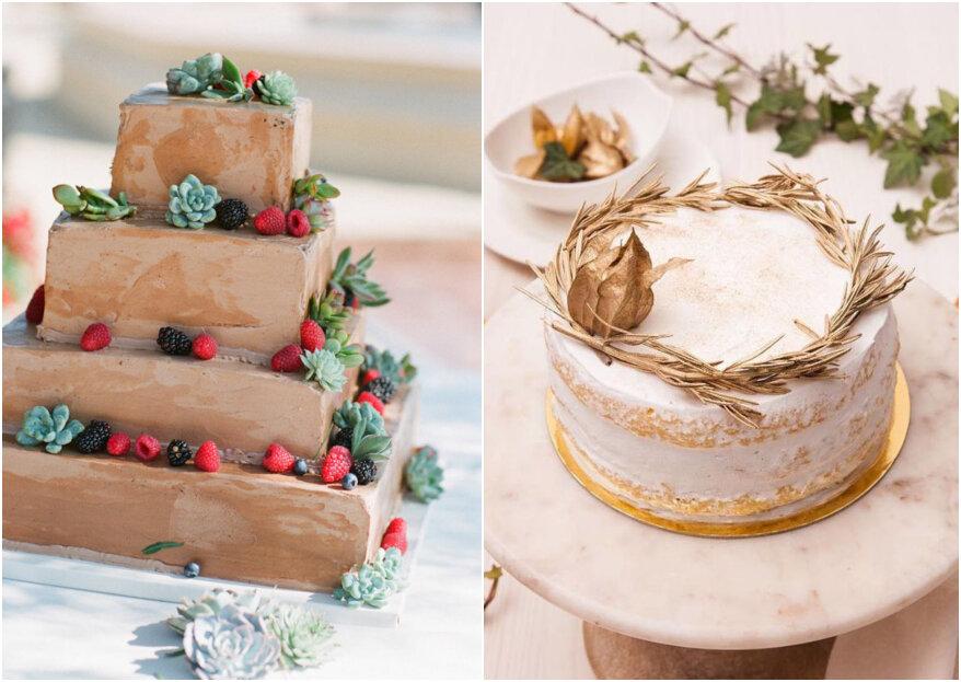 5 tipos de tortas de boda que son tendencia: ¡totalmente irresistibles!
