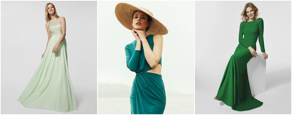 Vestidos de festa verdes: escolha a cor da esperança e arrase!