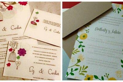 ¿Qué escribir y poner en las invitaciones de boda? 10 consejos muy útiles