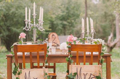 Ideias originais para a mesa dos noivos