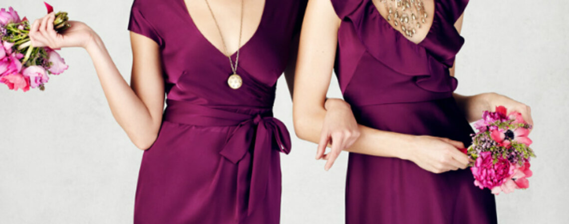 Vestidos para damas de honor para una boda en primavera