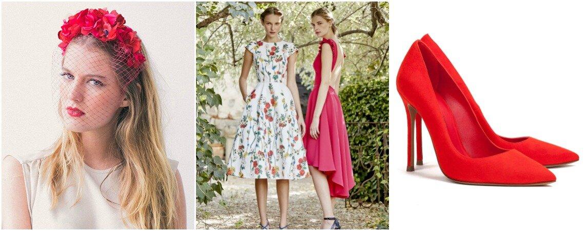 El nuevo look de la semana: vestidos estampados para invitadas
