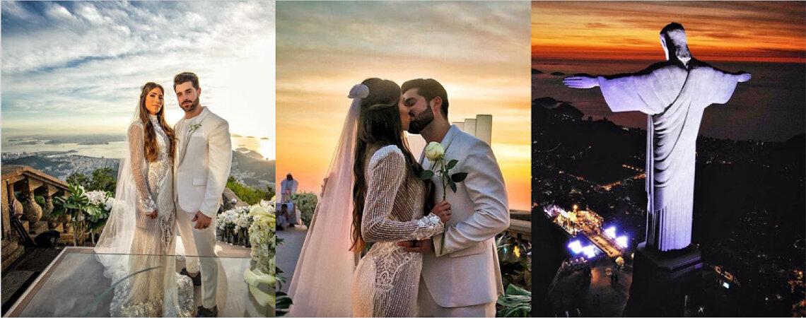 DJ Alok e Romana Novais se casam ao amanhecer no Cristo Redentor