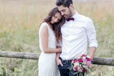 So stimmen Sie Brautkleid und Anzug aufeinander ab!