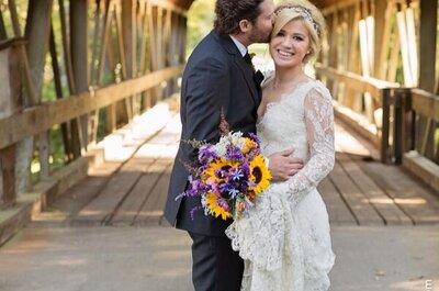 Kelly Clarkson se casó con Brandon Blackstock en una ceremonia íntima