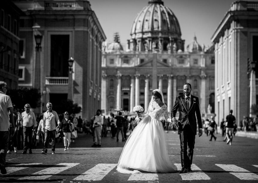 """""""Eravamo insieme, tutto il resto del tempo l'ho scordato"""": il matrimonio di Ilaria & Francesco"""