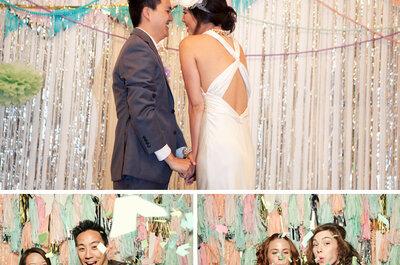 Lustige Hochzeitsfotos mit Photobooth