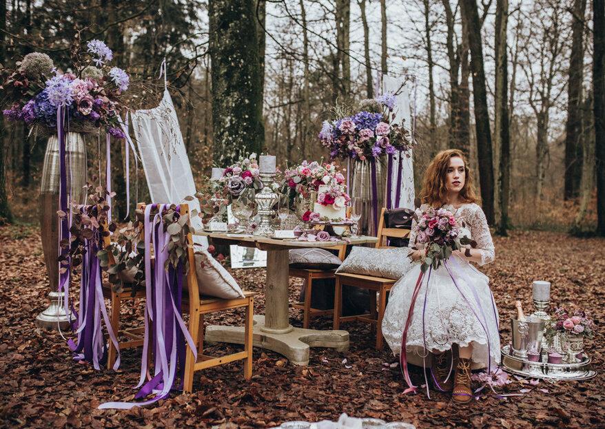 Mystischer Märchenwald - Hochzeitsinspirationen in Ultraviolett