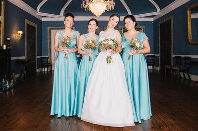 Como combinar os vestidos das damas de honor em 5 passos